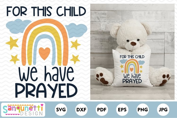 For this Child We Have Prayed SVG