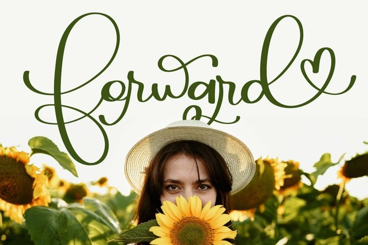 Web Font Forward - A Script With Hearts & Swooshes example image 1