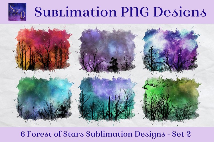 Sublimation PNG Designs - Forest of Stars Images - Set 2 example image 1