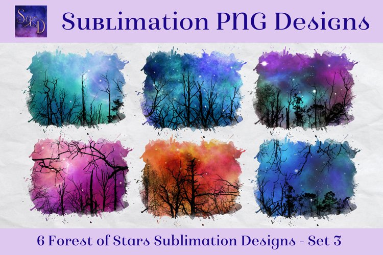 Sublimation PNG Designs - Forest of Stars Images - Set 3 example image 1