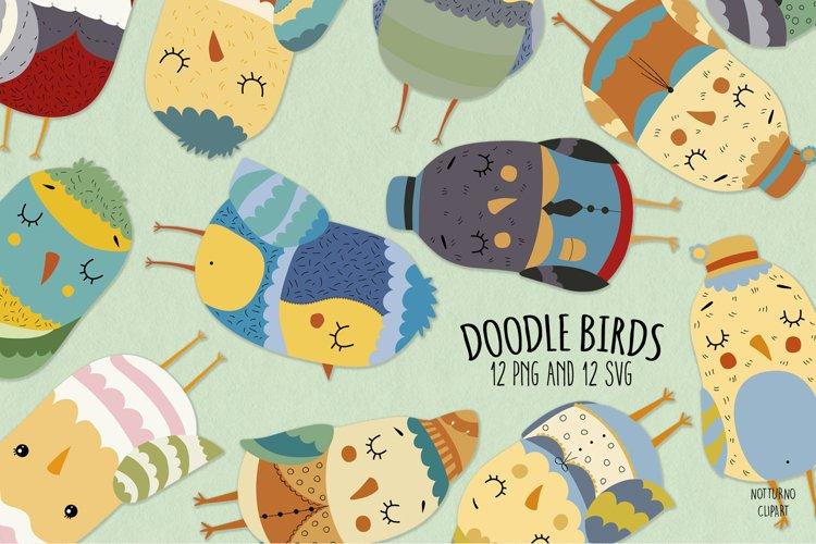 Doodle Birds SVG   Set of 12