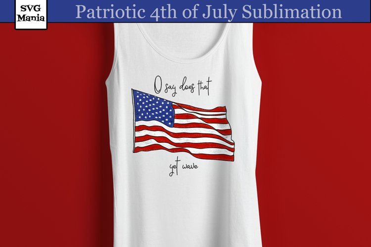 Patriotic Fourth of July Sublimation, Flag Sublimation PNG