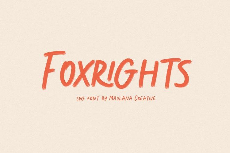 Foxright Svg Brush Font example image 1