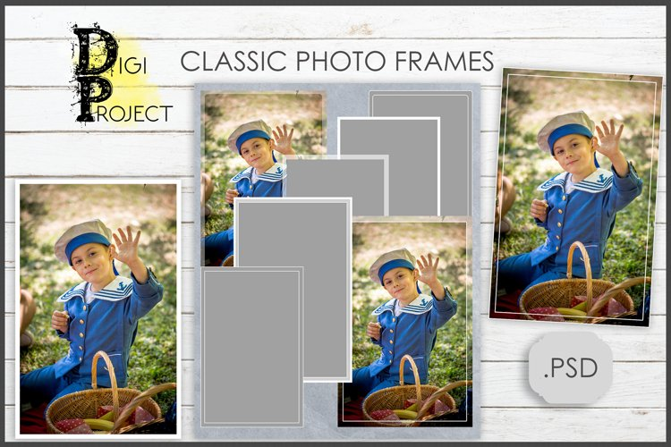 Classic photo frames, clliping masks frames