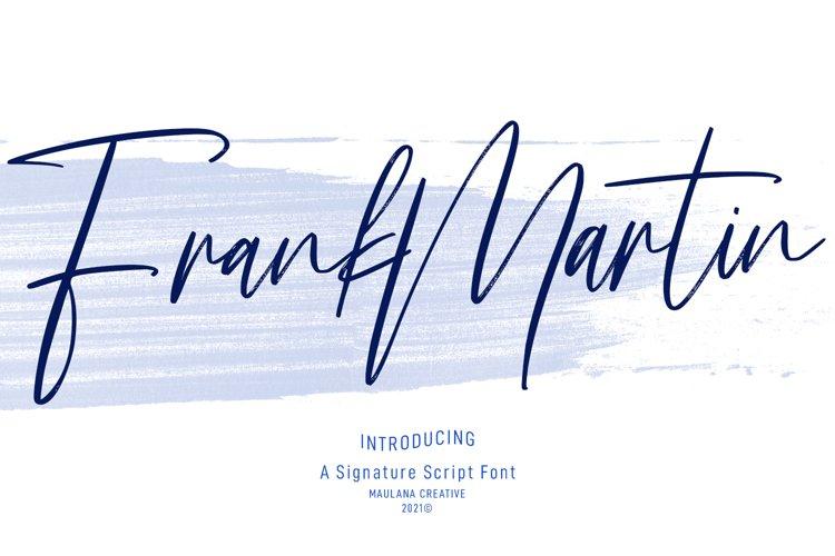 Frank Martin Signature Brush Font example image 1