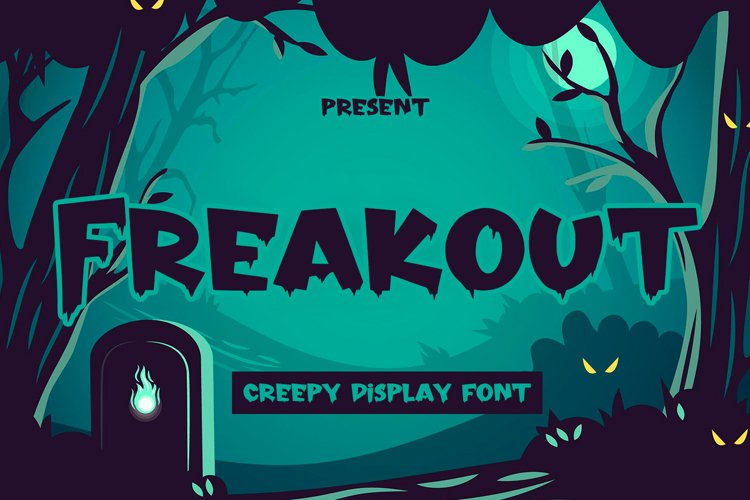 Freakout - Creepy Display Font example image 1