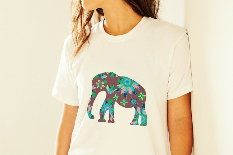 Elephant PNG sublimation design transparent