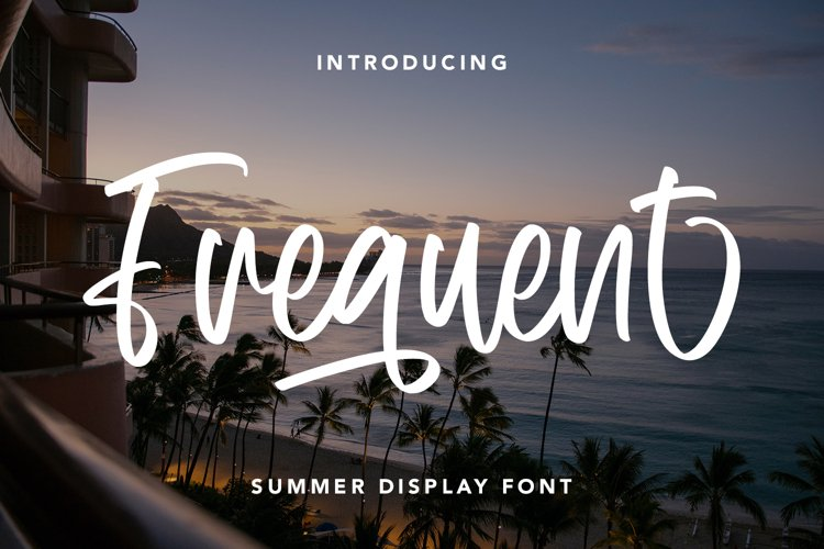 Frequent - Summer Display Font example image 1