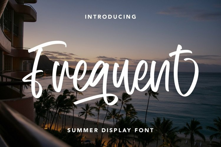 Web Font Frequent - Summer Display Font example image 1