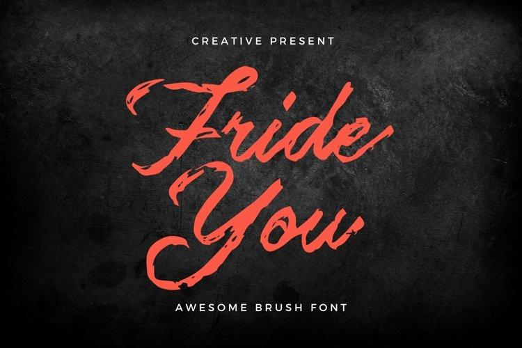 Web Font Frideyou Font example image 1