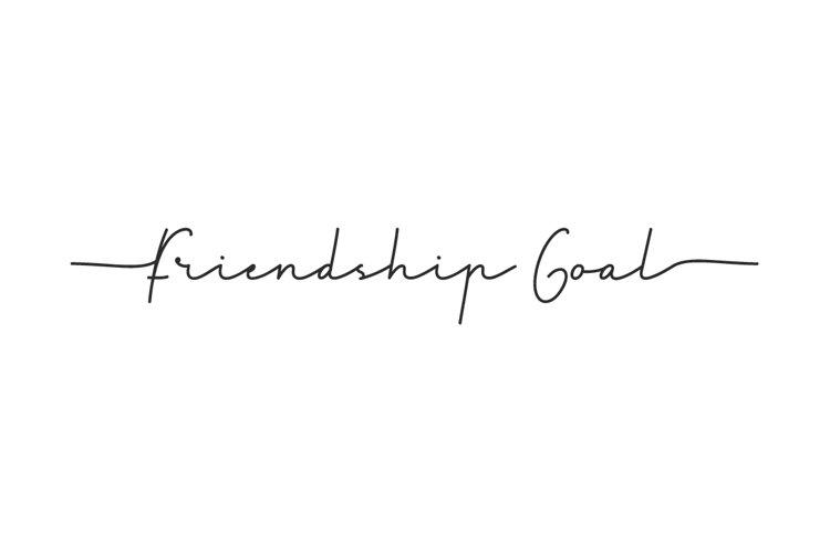 Friendship goal example image 1