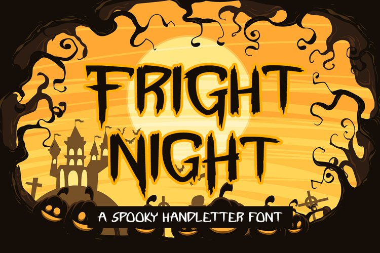 Fright Night - A Spooky Handletter Font example image 1