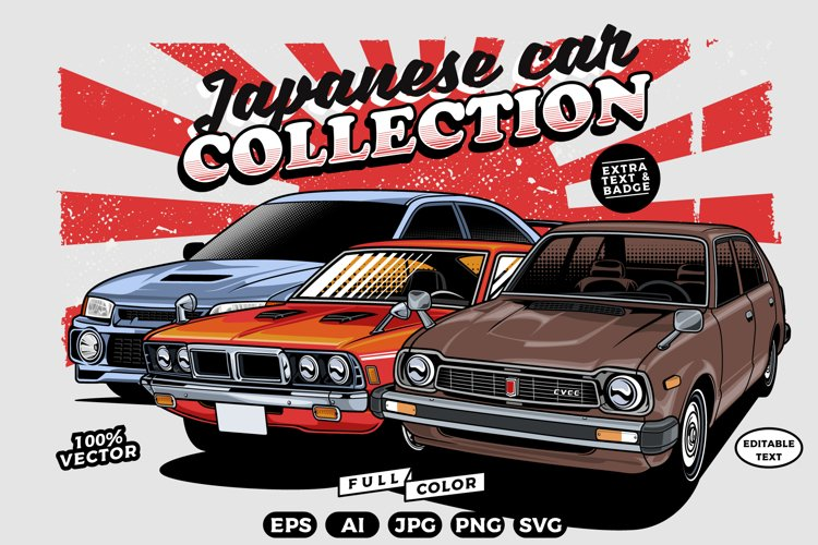 Japanese Cars Vector Collection