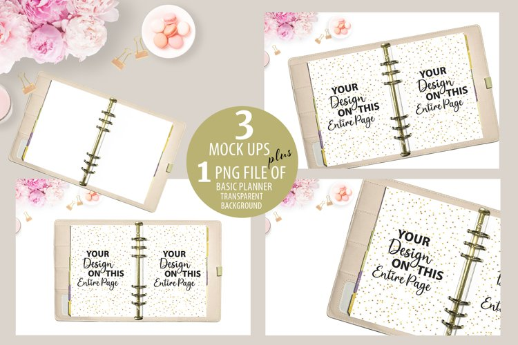 Baby Pink Planner Mockup, Journal Mockup, MockUp, Mock Up example image 1