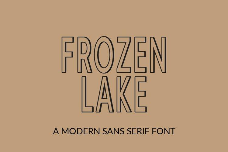 Frozen Lake - a modern sans serif font example image 1