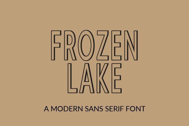 Web Font Frozen Lake - a modern sans serif font example image 1
