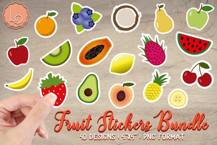 Fruit Stickers Bundle - 40 Printable Stickers