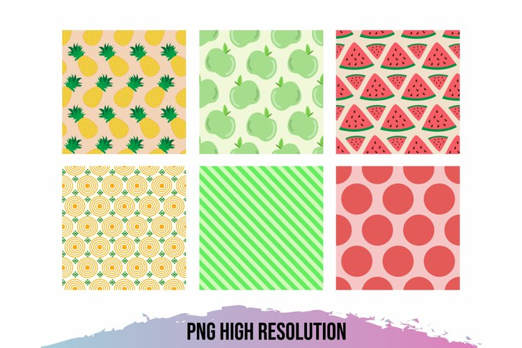 Fruits Pattern Paper Packs example image 1