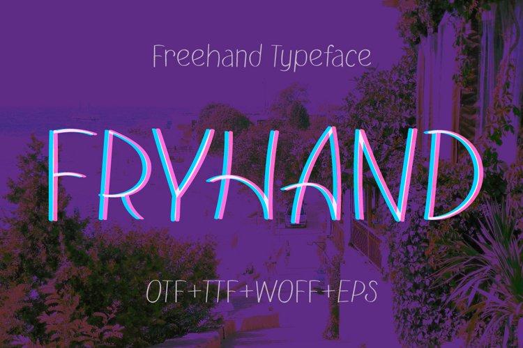 Fryhand sans serif font example image 1