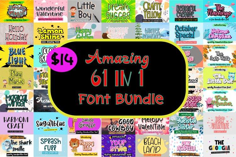 Amazing 61 in 1 Font Bundle example image 1