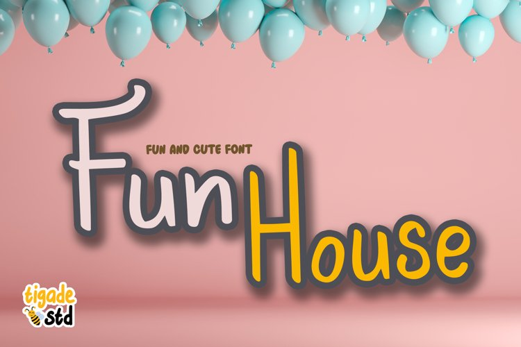 Fun House - Cute Display Font