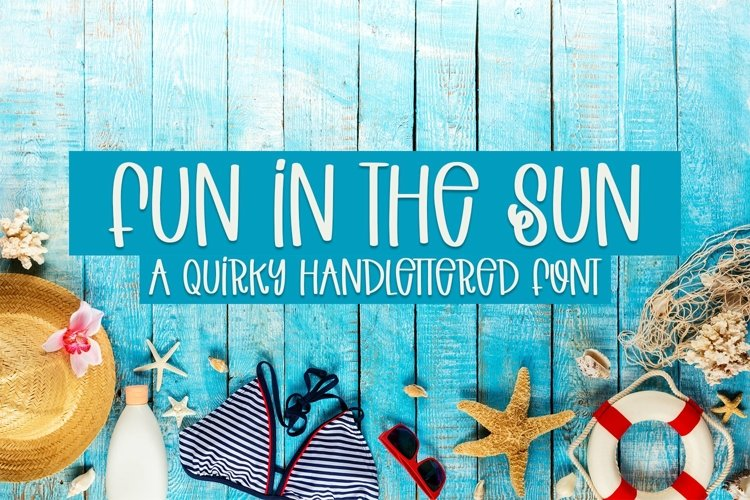 Web Font Fun In The Sun - A Quirky Handlettered Font example image 1
