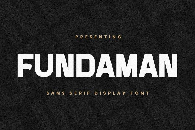 Web Font Fundaman example image 1