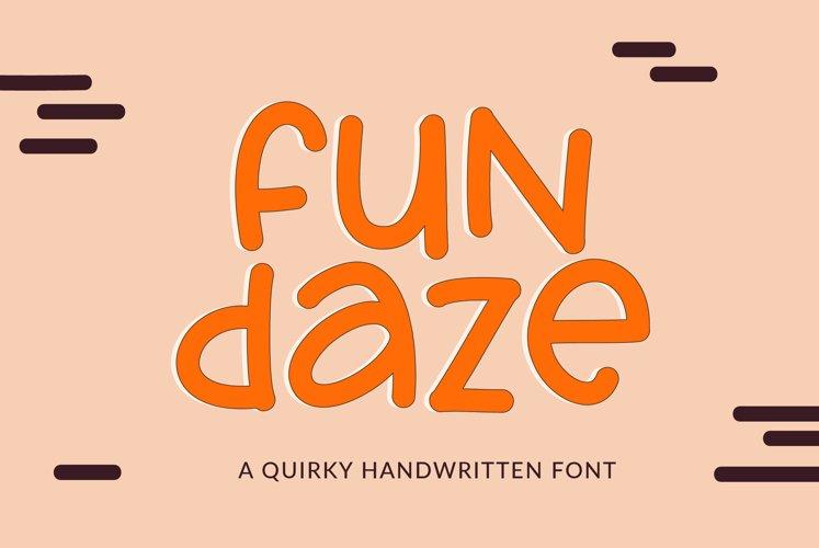 Fundaze - a fun handwritten font example image 1