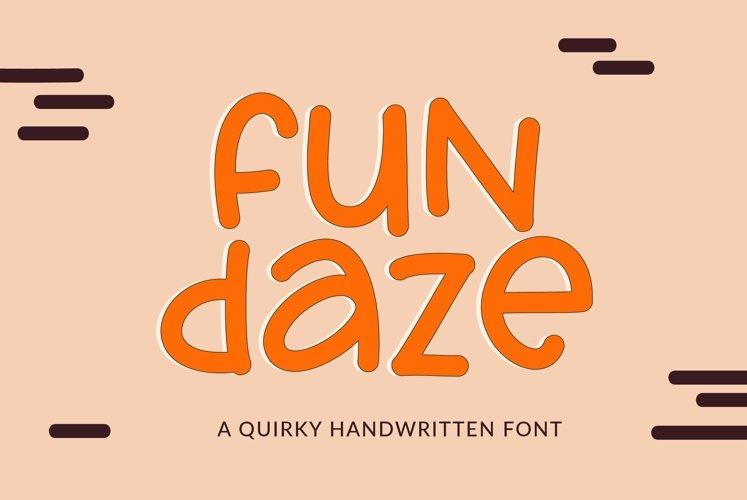 Web Font Fundaze - a fun handwritten font example image 1