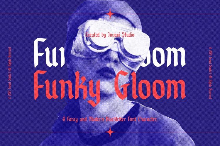 Funky Gloom - Fancy Blackletter example image 1