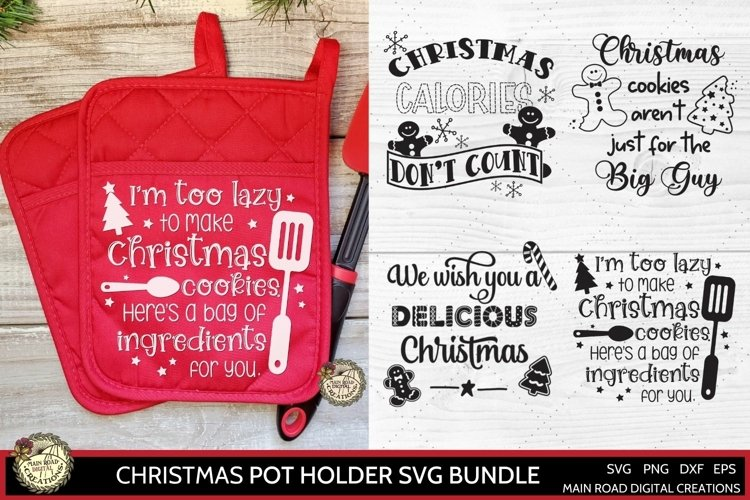 Kitchen Pot Holder designs for Christmas, Funny Christmas quote