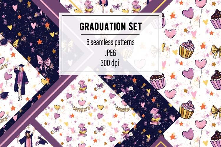 Graduation Seamless Patterns Set High Resolution JPEG