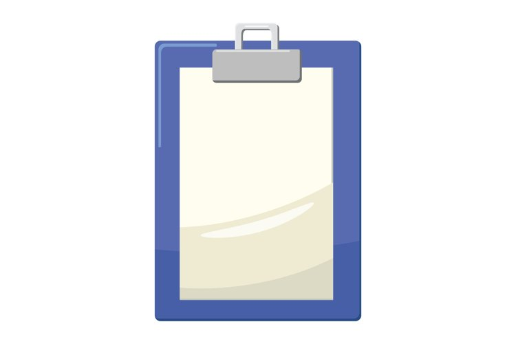 Clipboard with blank paper icon, cartoon style example image 1