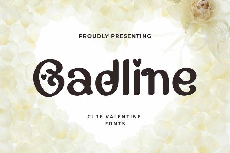Web Font Gadline - Valentines Font example image 1