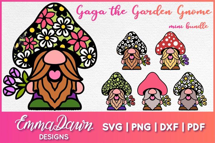 GAGA THE GARDEN GNOME SVG MINI BUNDLE 6 DESIGNS
