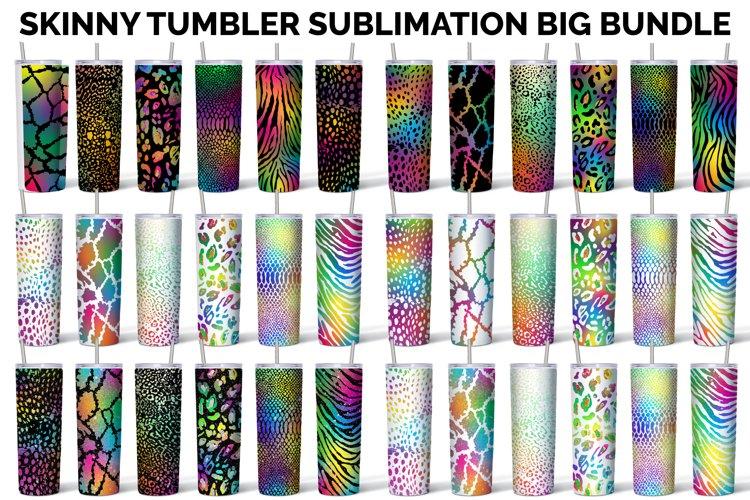 Skinny Tumbler Sublimation Bundle Design Animal Print Bundle