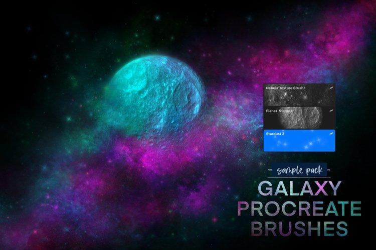 Galaxy Procreate Brushes Sample Mini Pack