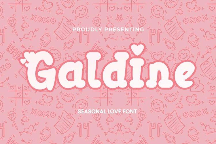 Web Font Galdine - Valentines Font example image 1