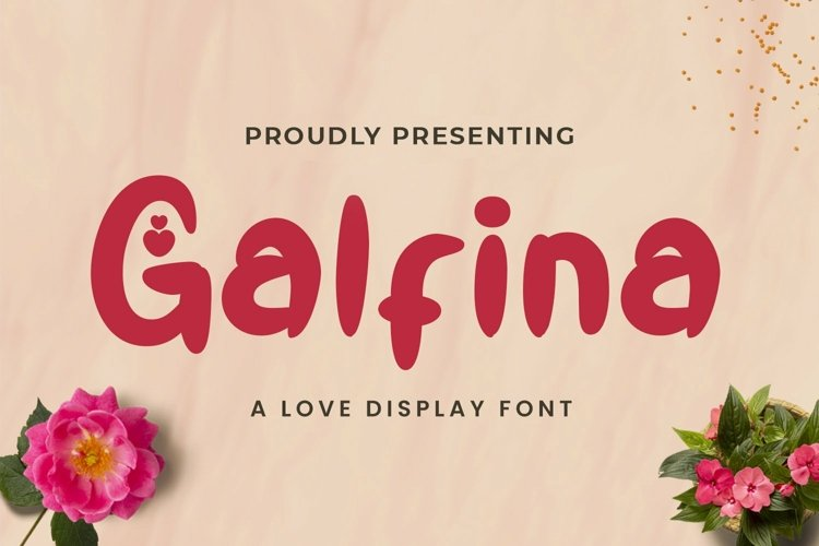 Web Font Galfina - Valentines Font example image 1