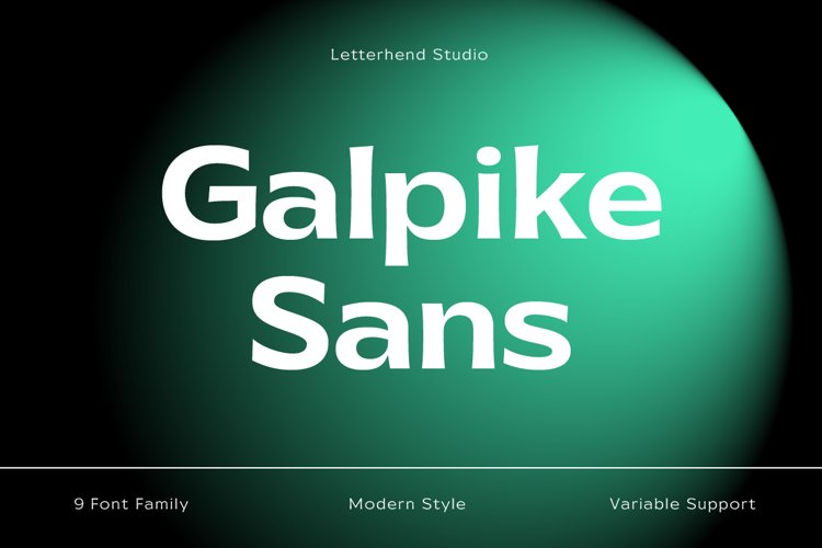 Galpike Sans - Variable Font example image 1