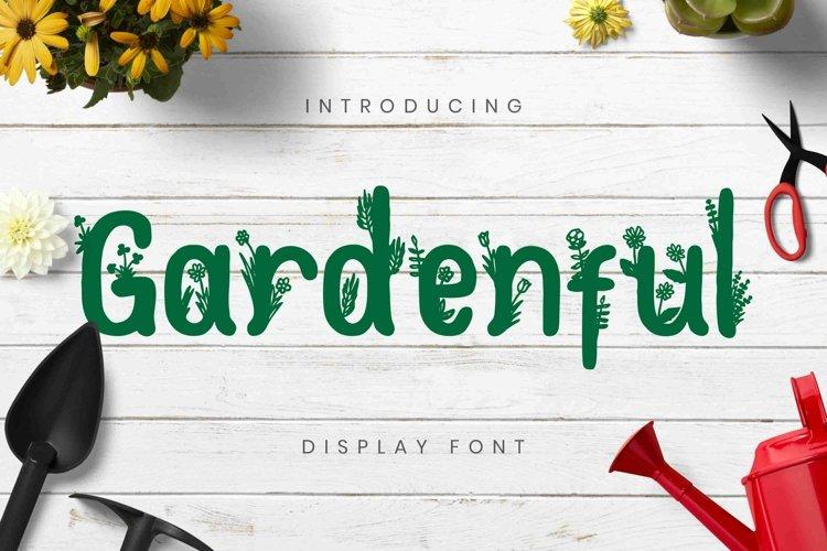 Web Font Gardenful Font example image 1