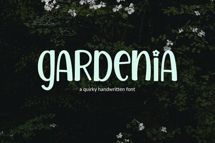 Web Font Gardenia - a quirky handwritten font example image 1