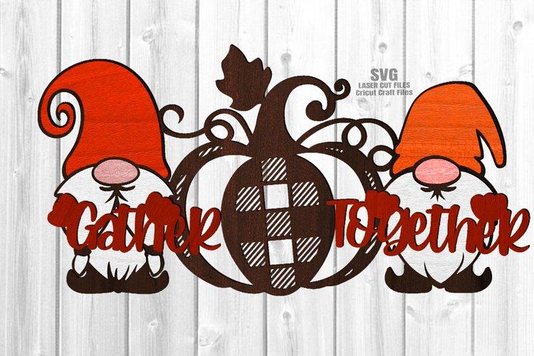 Glowforge Gnome Pumpkin Sign SVG Farmhouse Laser Cut Files example image 1