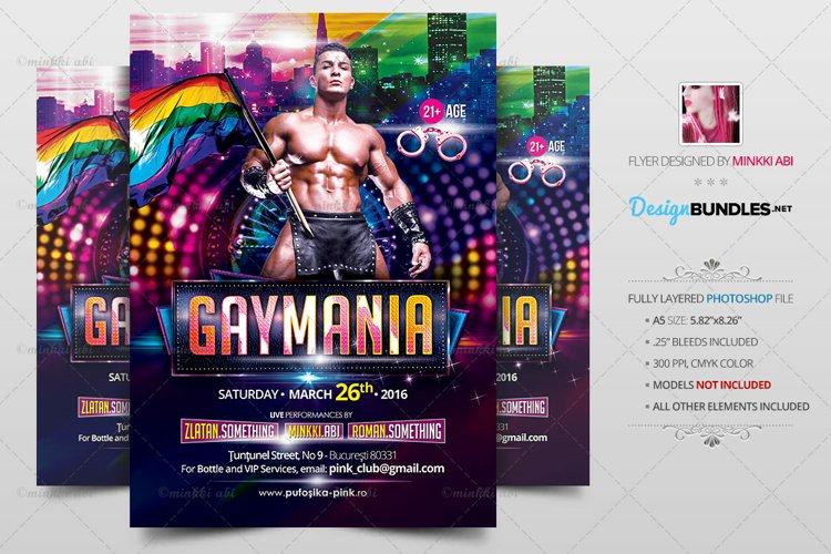 Gay Mania Flyer