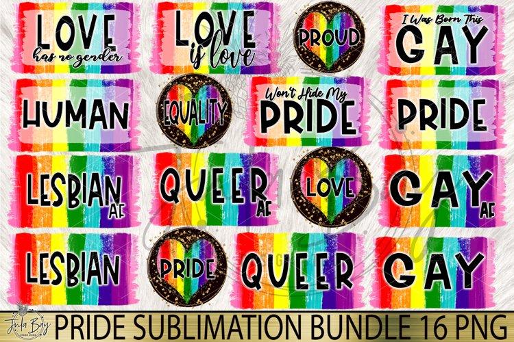 Gay Pride Sublimation Bundle LGBTQ Rainbow Tshirt Designs