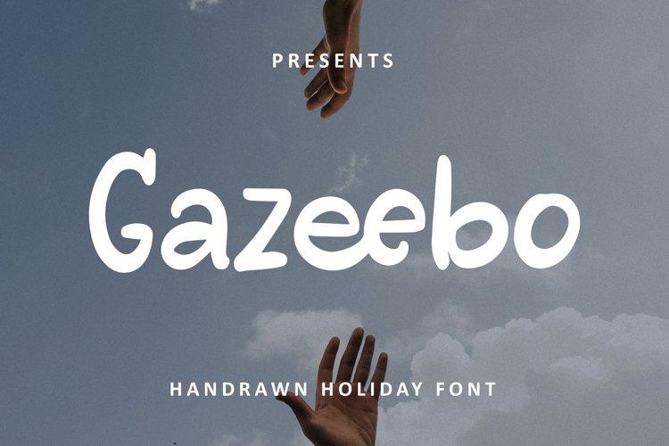 Gazeebo - Handrawn Holiday Font example image 1