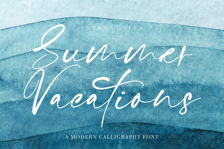 Summer Vacations Calligraphy Font example image 1