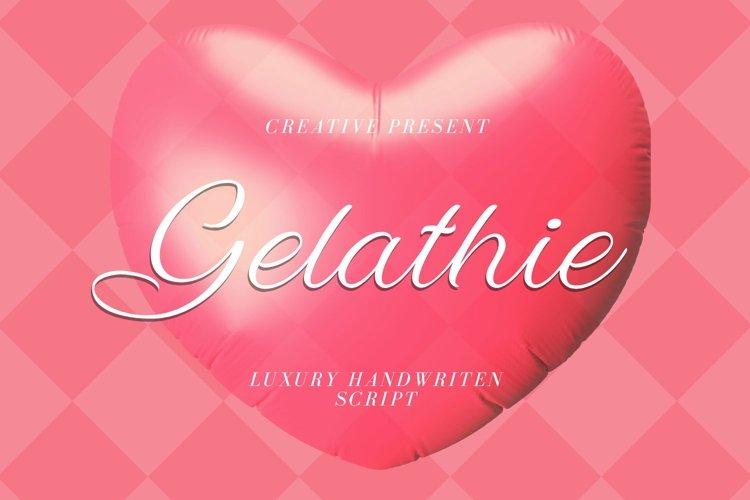 Web Font Gelathie Font