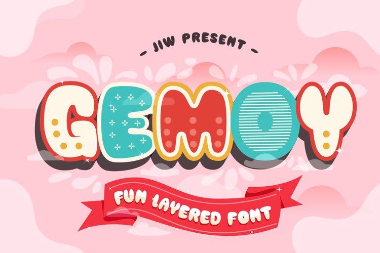 GEMOY - Fun Layered Font example image 1