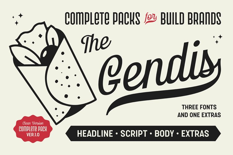 Gendis - Font Pack example image 1
